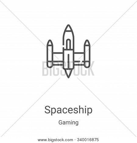 spaceship icon isolated on white background from gaming collection. spaceship icon trendy and modern