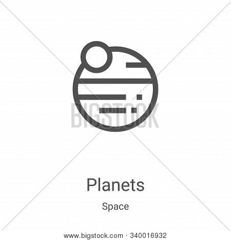 planets icon isolated on white background from space collection. planets icon trendy and modern plan