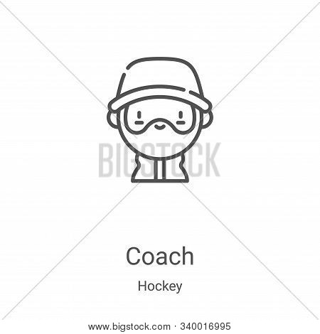 coach icon isolated on white background from hockey collection. coach icon trendy and modern coach s