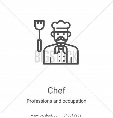 chef icon isolated on white background from professions and occupation collection. chef icon trendy