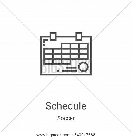 schedule icon isolated on white background from soccer collection. schedule icon trendy and modern s