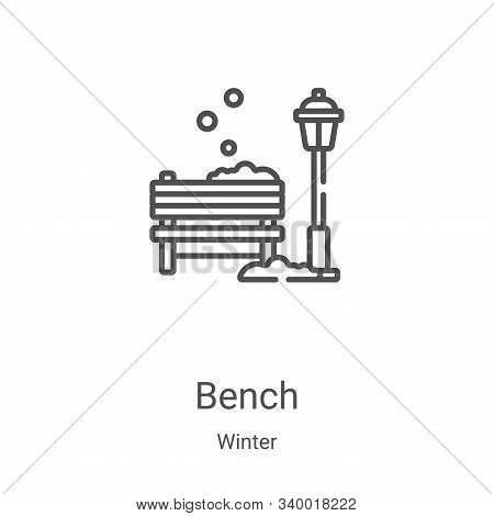 bench icon isolated on white background from winter collection. bench icon trendy and modern bench s