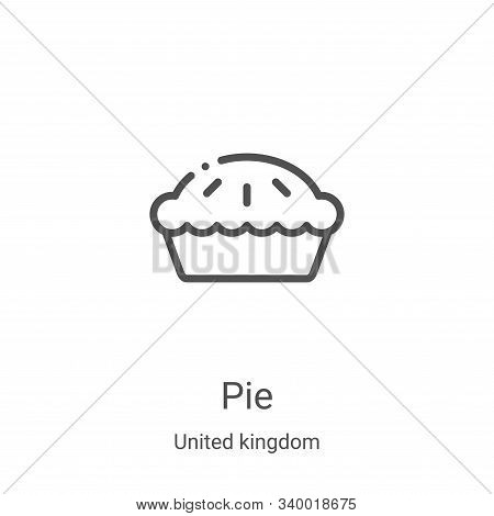 pie icon isolated on white background from united kingdom collection. pie icon trendy and modern pie