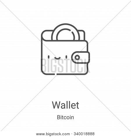 wallet icon isolated on white background from bitcoin collection. wallet icon trendy and modern wall