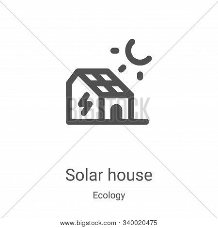 solar house icon isolated on white background from ecology collection. solar house icon trendy and m