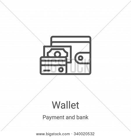 wallet icon isolated on white background from payment and bank collection. wallet icon trendy and mo