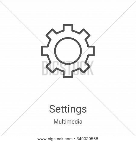 settings icon isolated on white background from multimedia collection. settings icon trendy and mode
