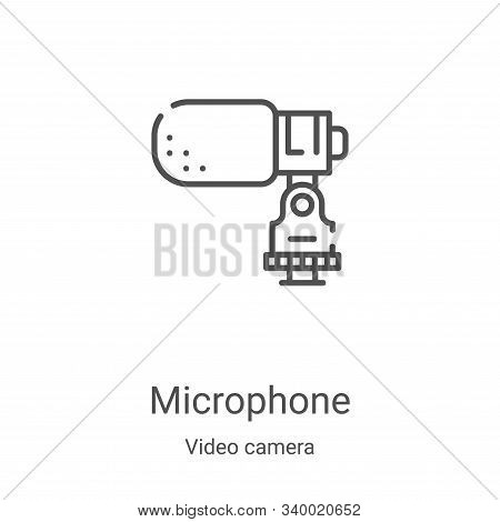 microphone icon isolated on white background from video camera collection. microphone icon trendy an