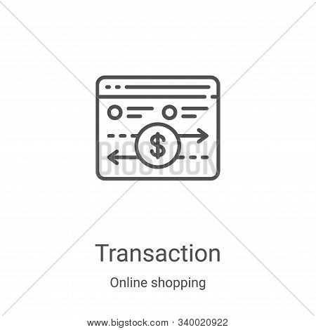 transaction icon isolated on white background from online shopping collection. transaction icon tren