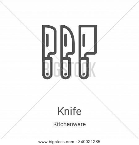 knife icon isolated on white background from kitchenware collection. knife icon trendy and modern kn