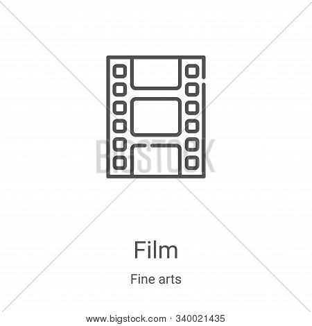 film icon isolated on white background from fine arts collection. film icon trendy and modern film s