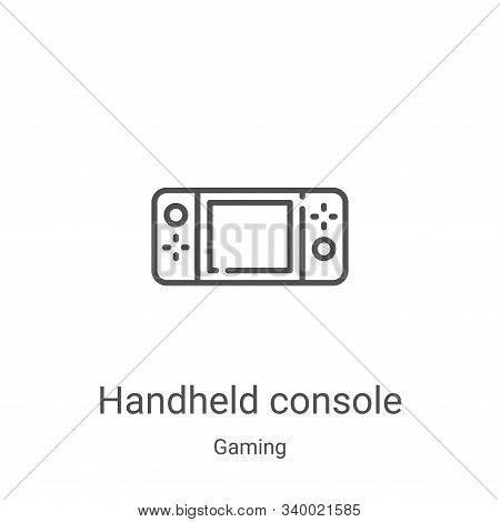 handheld console icon isolated on white background from gaming collection. handheld console icon tre