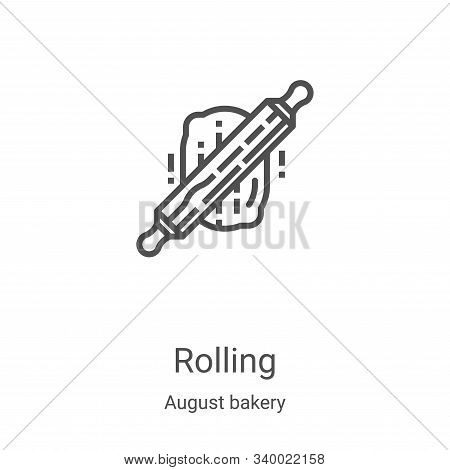 rolling icon isolated on white background from august bakery collection. rolling icon trendy and mod