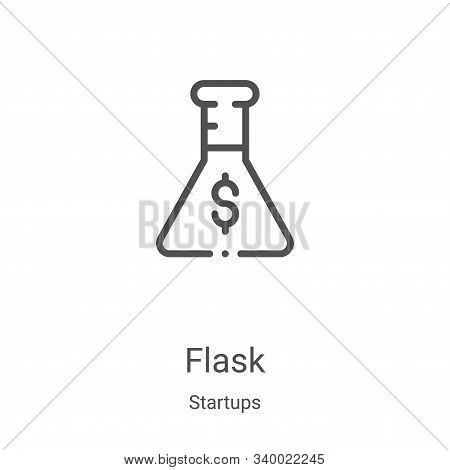 flask icon isolated on white background from startups collection. flask icon trendy and modern flask