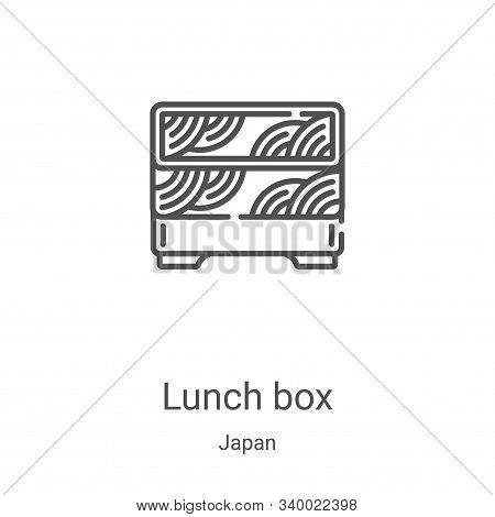 lunch box icon isolated on white background from japan collection. lunch box icon trendy and modern