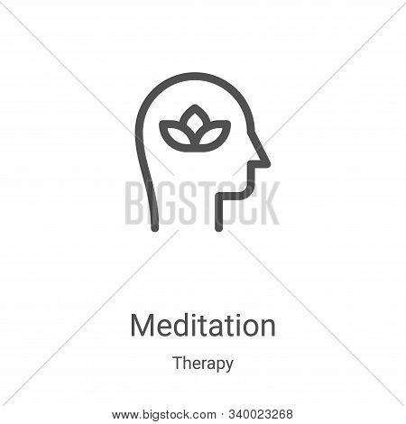 meditation icon isolated on white background from therapy collection. meditation icon trendy and mod
