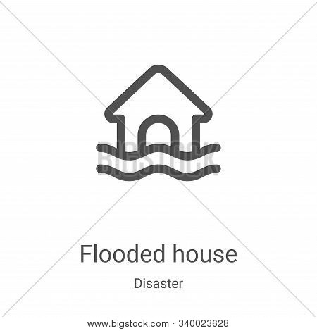 flooded house icon isolated on white background from disaster collection. flooded house icon trendy