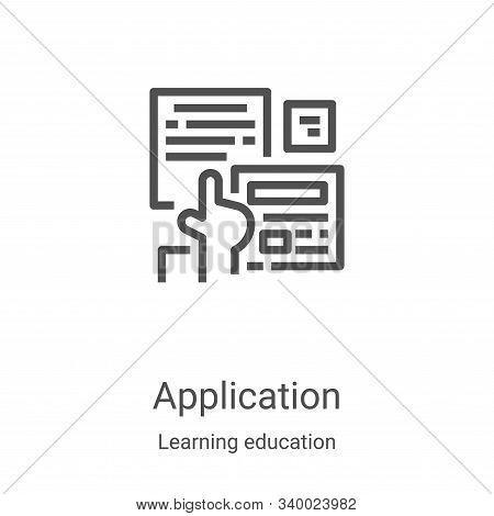 application icon isolated on white background from learning education collection. application icon t