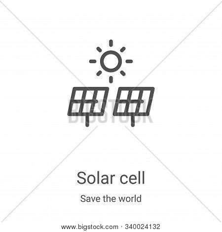solar cell icon isolated on white background from save the world collection. solar cell icon trendy