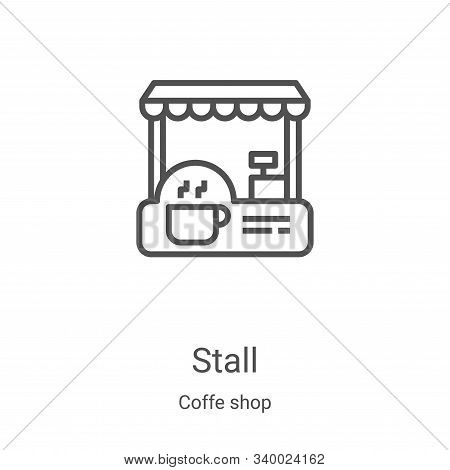 stall icon isolated on white background from coffe shop collection. stall icon trendy and modern sta