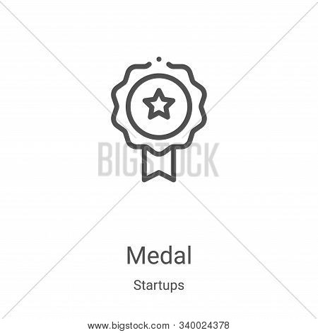 medal icon isolated on white background from startups collection. medal icon trendy and modern medal