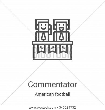 commentator icon isolated on white background from american football collection. commentator icon tr
