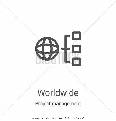 worldwide icon isolated on white background from project management collection. worldwide icon trend
