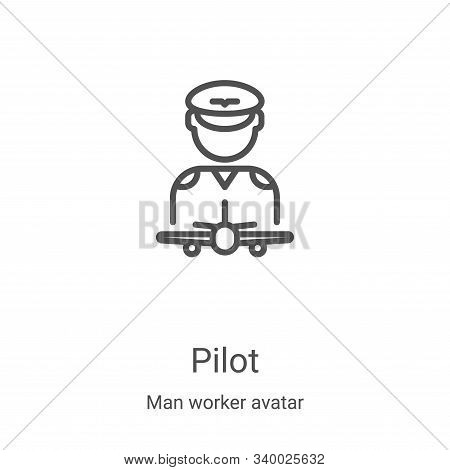 pilot icon isolated on white background from man worker avatar collection. pilot icon trendy and mod