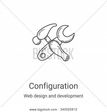 configuration icon isolated on white background from web design and development collection. configur