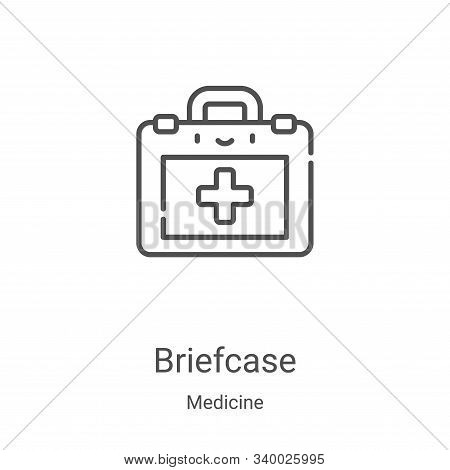 briefcase icon isolated on white background from medicine collection. briefcase icon trendy and mode