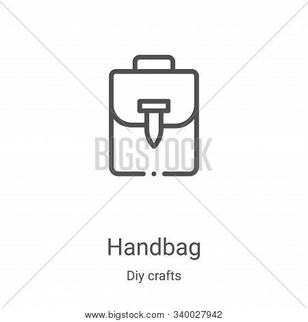 handbag icon isolated on white background from diy crafts collection. handbag icon trendy and modern