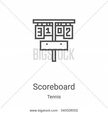 scoreboard icon isolated on white background from tennis collection. scoreboard icon trendy and mode