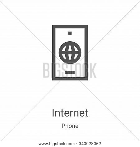 internet icon isolated on white background from phone collection. internet icon trendy and modern in