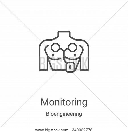 monitoring icon isolated on white background from bioengineering collection. monitoring icon trendy