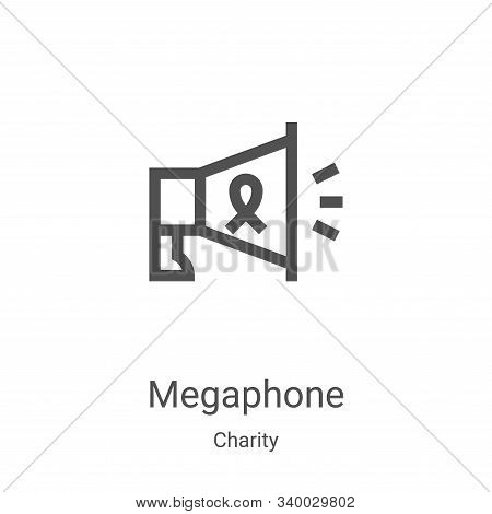 megaphone icon isolated on white background from charity collection. megaphone icon trendy and moder