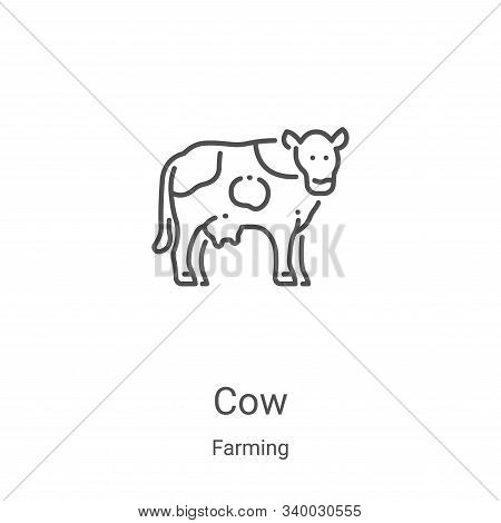 cow icon isolated on white background from farming collection. cow icon trendy and modern cow symbol