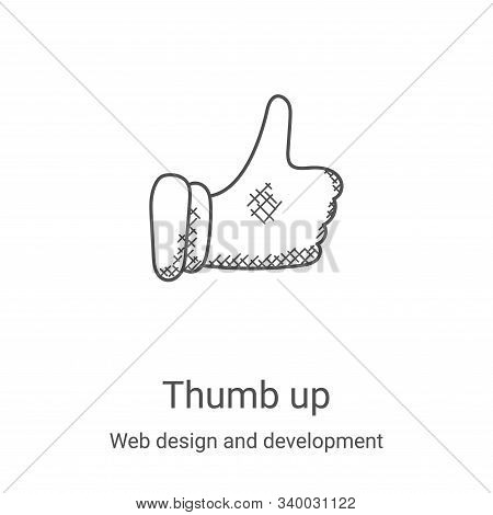thumb up icon isolated on white background from web design and development collection. thumb up icon