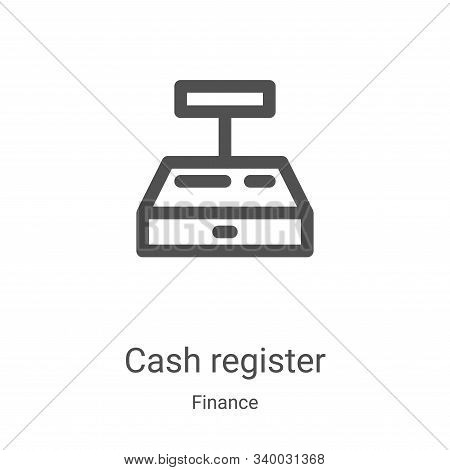 cash register icon isolated on white background from finance collection. cash register icon trendy a
