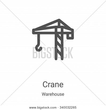 crane icon isolated on white background from warehouse collection. crane icon trendy and modern cran