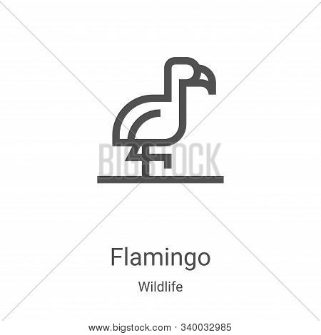 flamingo icon isolated on white background from wildlife collection. flamingo icon trendy and modern