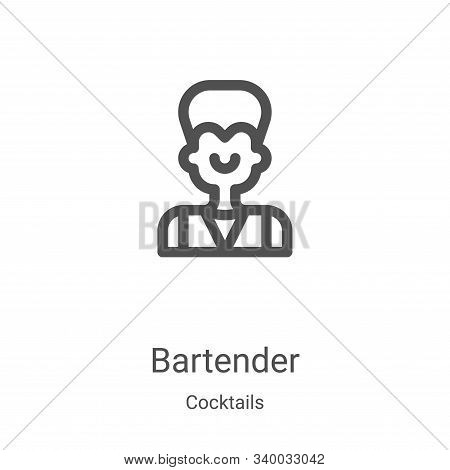 bartender icon isolated on white background from cocktails collection. bartender icon trendy and mod