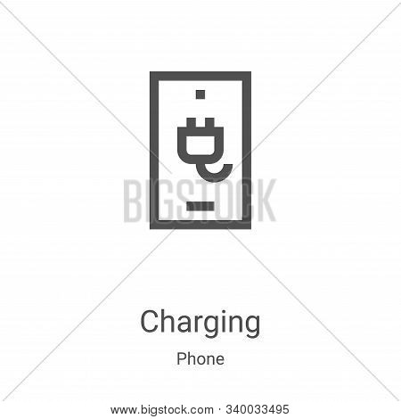 charging icon isolated on white background from phone collection. charging icon trendy and modern ch