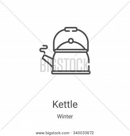 kettle icon isolated on white background from winter collection. kettle icon trendy and modern kettl