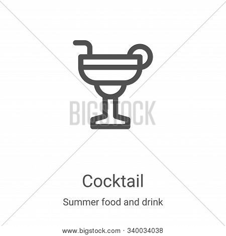 cocktail icon isolated on white background from summer food and drink collection. cocktail icon tren