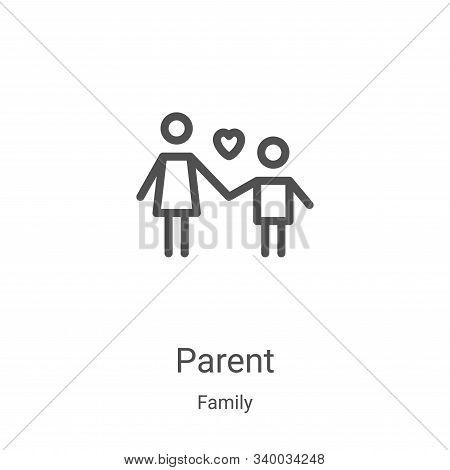 parent icon isolated on white background from family collection. parent icon trendy and modern paren
