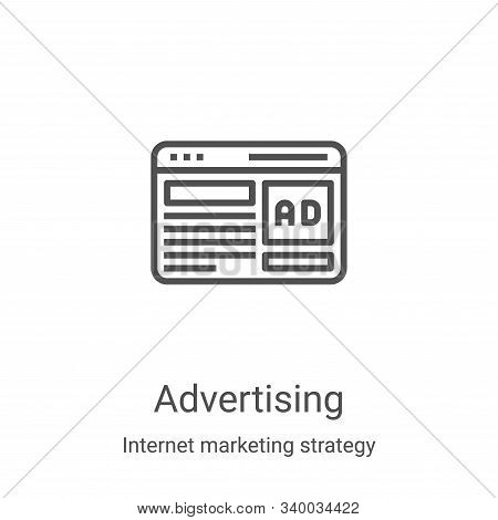 advertising icon isolated on white background from internet marketing strategy collection. advertisi
