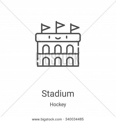 stadium icon isolated on white background from hockey collection. stadium icon trendy and modern sta