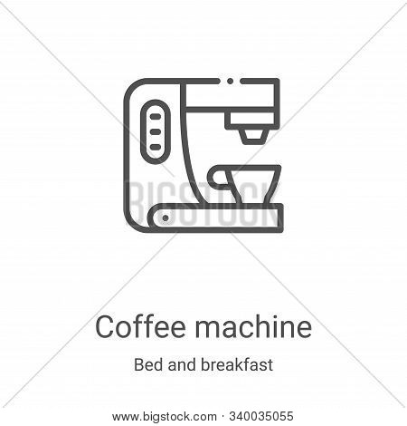 coffee machine icon isolated on white background from bed and breakfast collection. coffee machine i