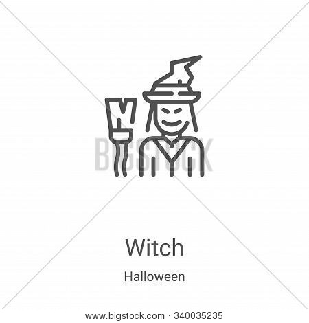 witch icon isolated on white background from halloween collection. witch icon trendy and modern witc