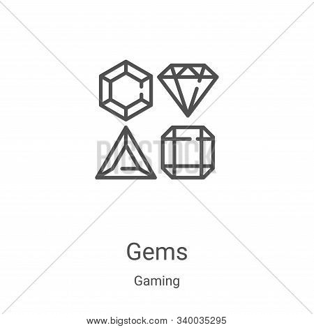 gems icon isolated on white background from gaming collection. gems icon trendy and modern gems symb
